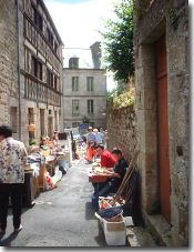 Vide Grenier in the side streets of Moncontour