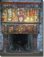 Decorative fireplace in Pontivy Chateau
